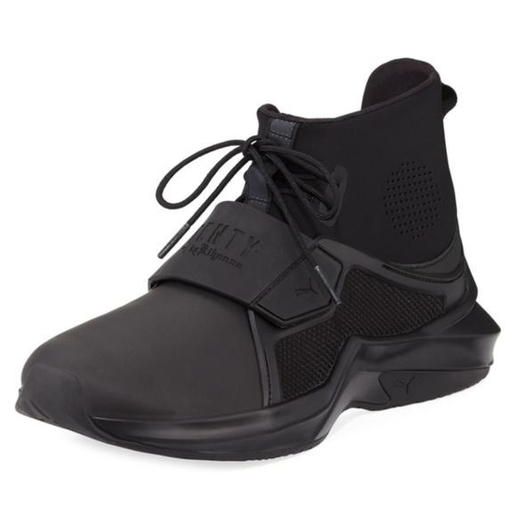 reputable site 24412 97963 PUMA FENTY Black Rihanna Sneakers Trainer 8 Hi NIB Boutique